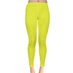 Neon Color   Brilliant Yellow Leggings  by tarastyle