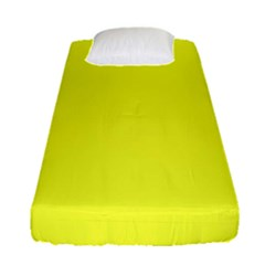 Neon Color   Brilliant Yellow Fitted Sheet (single Size) by tarastyle