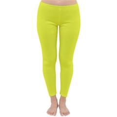 Neon Color   Brilliant Yellow Classic Winter Leggings by tarastyle