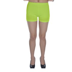 Neon Color   Light Brilliant Apple Green Skinny Shorts by tarastyle