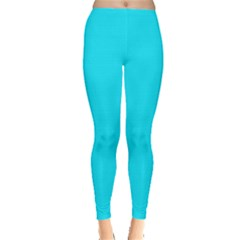 Neon Color   Light Brilliant Arctic Blue Leggings  by tarastyle