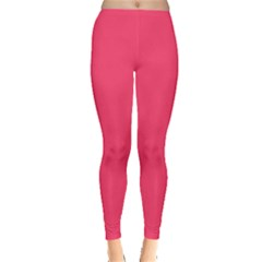 Neon Color - Light Brilliant Crimson Leggings  by tarastyle