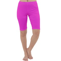 Neon Color   Light Brilliant Fuchsia Cropped Leggings  by tarastyle