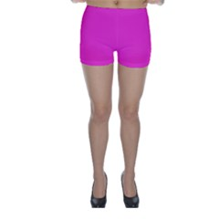 Neon Color - Light Brilliant Fuchsia Skinny Shorts by tarastyle