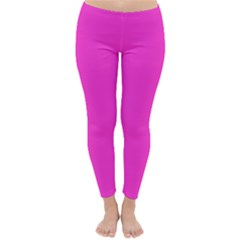 Neon Color - Light Brilliant Fuchsia Classic Winter Leggings by tarastyle
