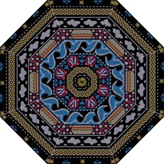 Ugly Summer Ugly Holiday Christmas Black Background Golf Umbrellas by Onesevenart