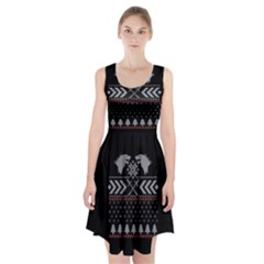 Winter Is Coming Game Of Thrones Ugly Christmas Black Background Racerback Midi Dress by Onesevenart