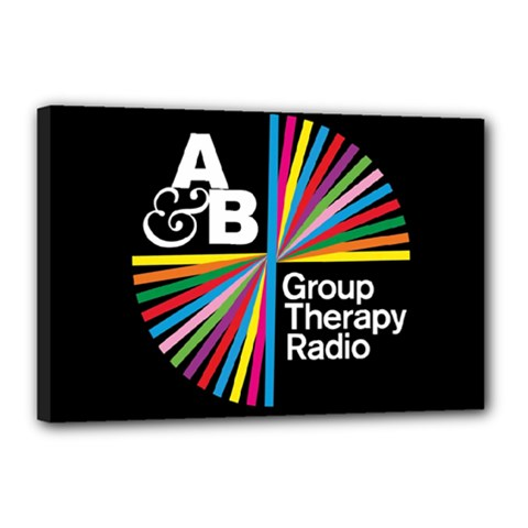 Above & Beyond  Group Therapy Radio Canvas 18  X 12  by Onesevenart