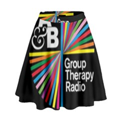 Above & Beyond  Group Therapy Radio High Waist Skirt by Onesevenart