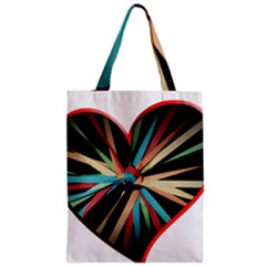 Above & Beyond Zipper Classic Tote Bag by Onesevenart