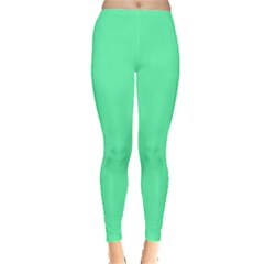 Neon Color   Light Brilliant Spring Green Leggings  by tarastyle