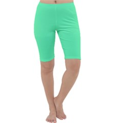 Neon Color   Light Brilliant Spring Green Cropped Leggings  by tarastyle