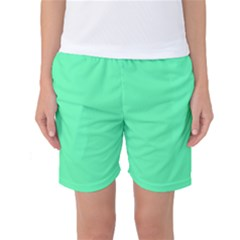 Neon Color   Light Brilliant Spring Green Women s Basketball Shorts by tarastyle