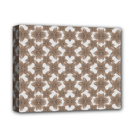 Stylized Leaves Floral Collage Deluxe Canvas 14  X 11  by dflcprints