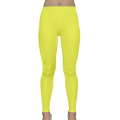 Neon Color   Light Brilliant Yellow Classic Yoga Leggings by tarastyle