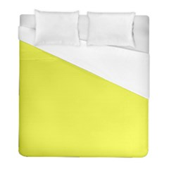Neon Color   Light Brilliant Yellow Duvet Cover (full/ Double Size) by tarastyle