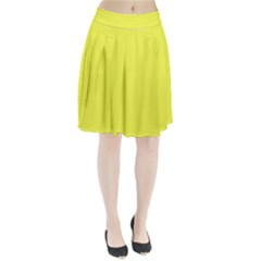 Neon Color - Light Brilliant Yellow Pleated Skirt by tarastyle