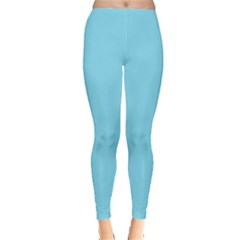 Neon Color   Luminous Vivid Blue Leggings  by tarastyle