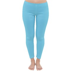 Neon Color - Luminous Vivid Blue Classic Winter Leggings by tarastyle
