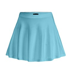 Neon Color - Luminous Vivid Blue Mini Flare Skirt by tarastyle