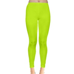 Neon Color   Luminous Vivid Lime Green Leggings  by tarastyle
