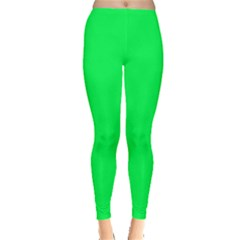 Neon Color   Luminous Vivid Malachite Green Leggings  by tarastyle