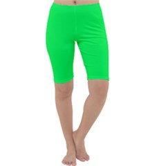 Neon Color   Luminous Vivid Malachite Green Cropped Leggings  by tarastyle