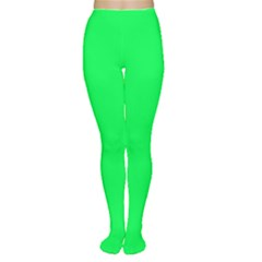 Neon Color   Luminous Vivid Malachite Green Women s Tights by tarastyle