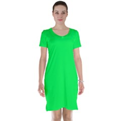 Neon Color   Luminous Vivid Malachite Green Short Sleeve Nightdress by tarastyle