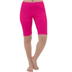 Neon Color - Luminous Vivid Raspberry Cropped Leggings  by tarastyle