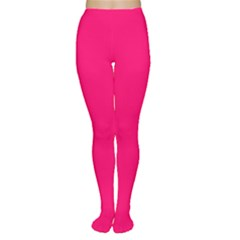 Neon Color   Luminous Vivid Raspberry Women s Tights by tarastyle