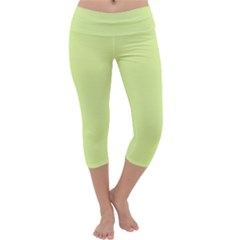 Neon Color   Pale Lime Green Capri Yoga Leggings by tarastyle