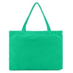 Neon Color   Vivid Aquamarine Medium Zipper Tote Bag by tarastyle