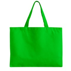 Neon Color   Vivid Malachite Green Zipper Mini Tote Bag by tarastyle