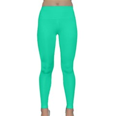 Neon Color   Vivid Turquoise Classic Yoga Leggings by tarastyle