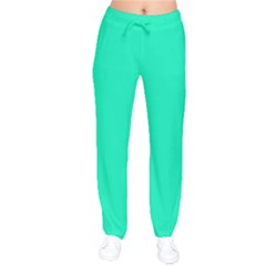 Neon Color   Vivid Turquoise Drawstring Pants by tarastyle