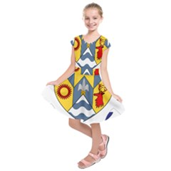 County Clare Coat Of Arms Kids  Short Sleeve Dress by abbeyz71