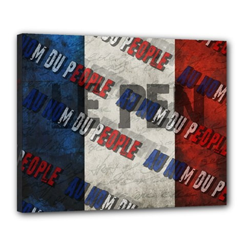 Marine Le Pen Canvas 20  X 16  by Valentinaart