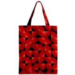 Fake Wood Pattern Zipper Classic Tote Bag by linceazul
