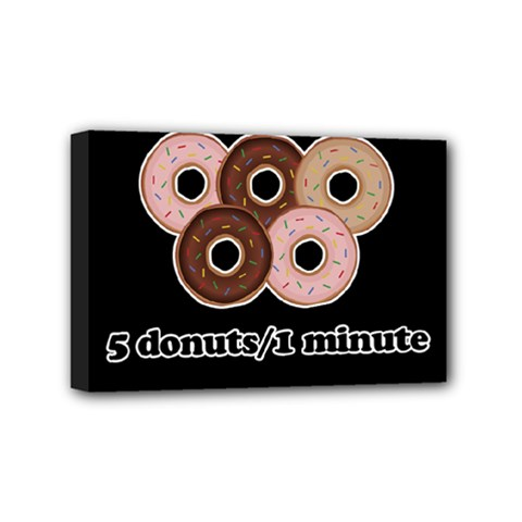 Five Donuts In One Minute  Mini Canvas 6  X 4  by Valentinaart