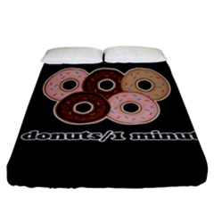 Five Donuts In One Minute  Fitted Sheet (california King Size) by Valentinaart