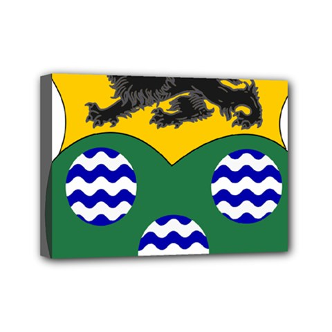 County Leitrim Coat Of Arms Mini Canvas 7  X 5  by abbeyz71