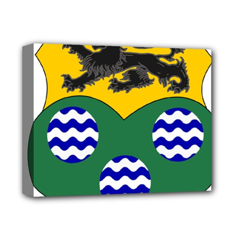 County Leitrim Coat Of Arms Deluxe Canvas 14  X 11  by abbeyz71