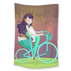 Bikeride Large Tapestry