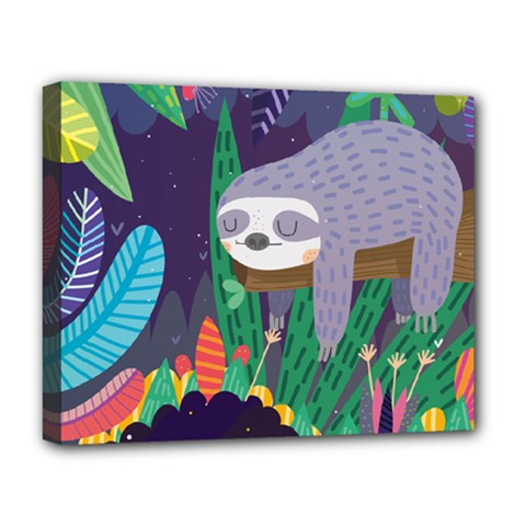 Sloth In Nature Deluxe Canvas 20  X 16   by Mjdaluz