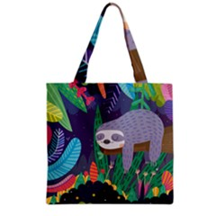 Sloth In Nature Grocery Tote Bag by Mjdaluz