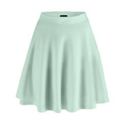Pastel Color   Light Greenish Gray High Waist Skirt by tarastyle