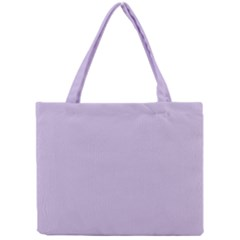 Pastel Color   Light Violetish Gray Mini Tote Bag by tarastyle