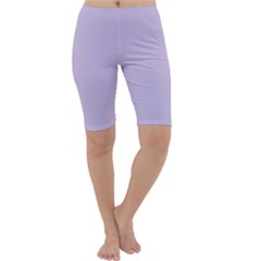Pastel Color   Light Violetish Gray Cropped Leggings  by tarastyle