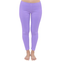 Pastel Color - Pale Blue Violet Classic Winter Leggings by tarastyle